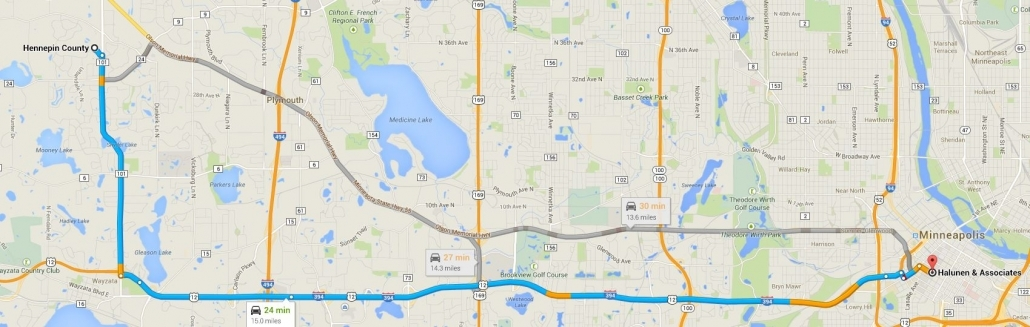 Hennepin County Driving Directions to Halunen Law Offices