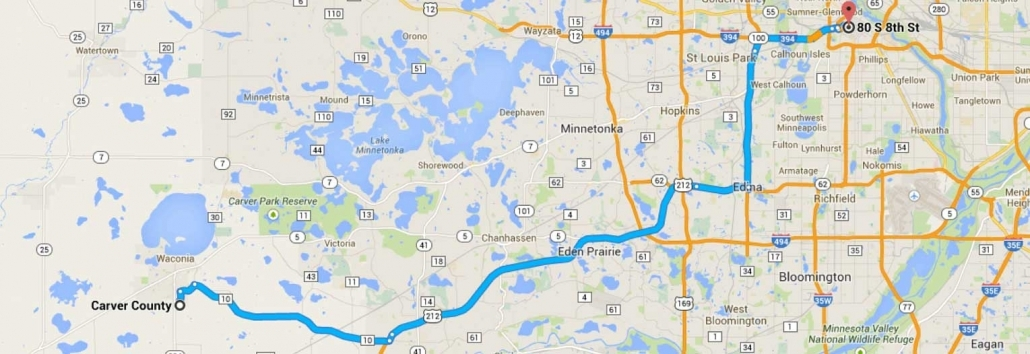 Carver County Driving Directions to Halunen Law