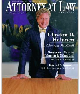 Clayton Halunen - Law Magazine Cover