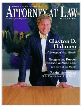 Clayton Halunen – Law Magazine Cover