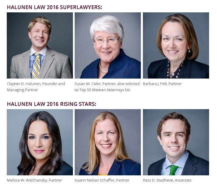 Halunen Law – 2016 Superlawyers & Rising Stars
